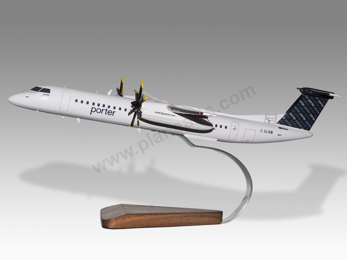 Porter Airlines Toronto Canada Dash 8 Q400 Large Model Plane Solid Resin DHC-8