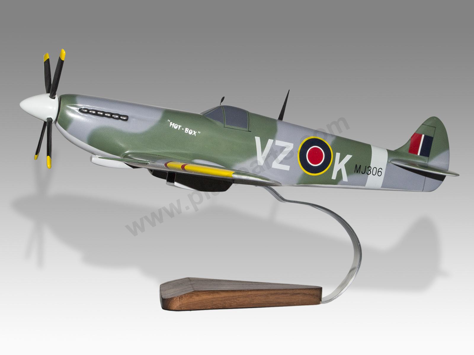 Supermarine Spitfire Mahogany Wood Desktop Airplane Model